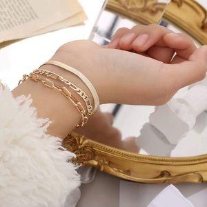 14K Gold Layered Bracelets